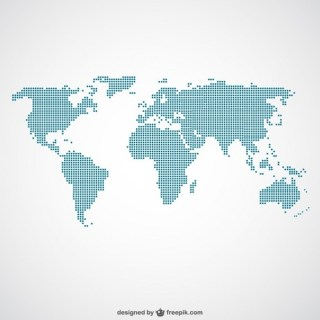 World Map Dots Template Free Vector