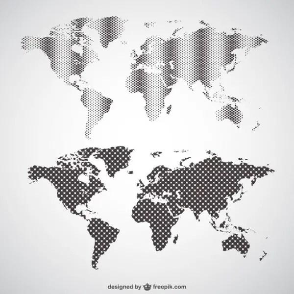 World Map Graphics Free Vector