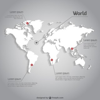 World Map Infographic Template Free Vector