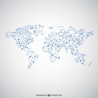 World Map Global Network Graphics Free Vector