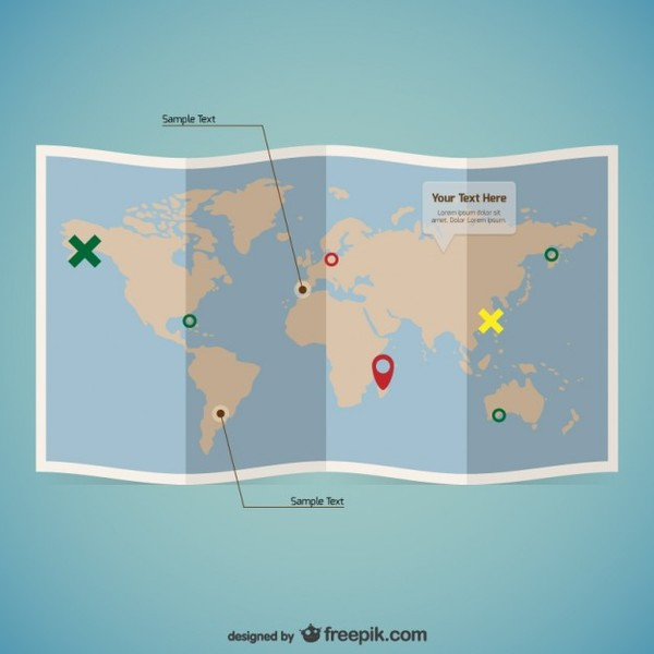 World Map Template Free Vector