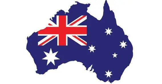 Stylized map of Australia.