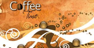 Coffee Time Vector Background