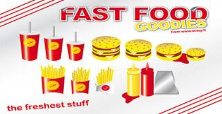 Fast Food Goodies Vector