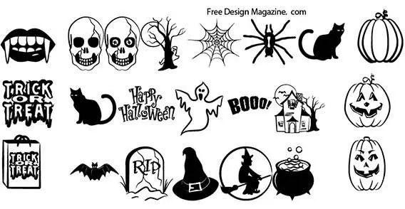 Halloween Vector Elements