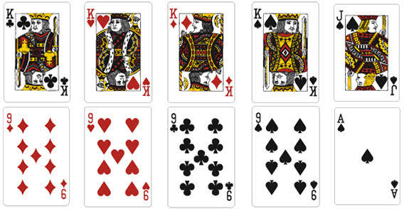 Playing Card Vector Template 123Freevectors