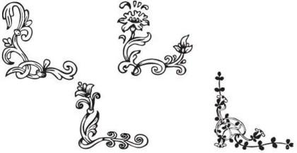 Floral Corner Vector Illustration