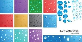 Dew Water Drops Vector