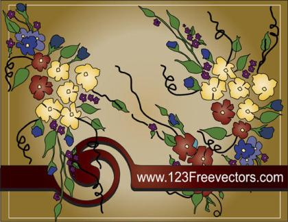 Flower Text Frame Vector