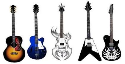 Guitar Free Vector Pack