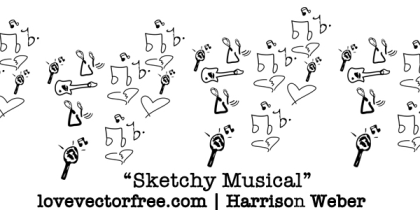 Sketchy Musical Vector