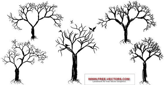 Free Vector Tree Art