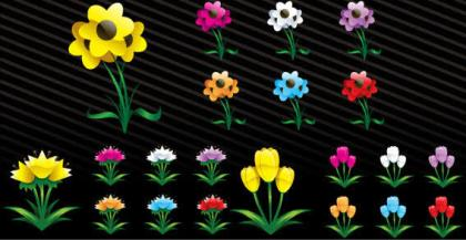 Free Vector Art Spring Flowers
