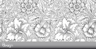 Ornamental Flower Background Vector