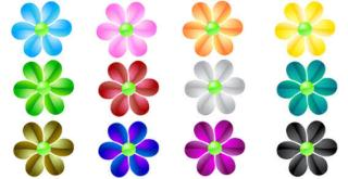 Free Glass Flowers Vector