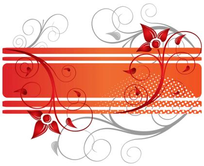 Floral Design Text Frame Vector