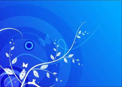 Floral Blue Vector Background
