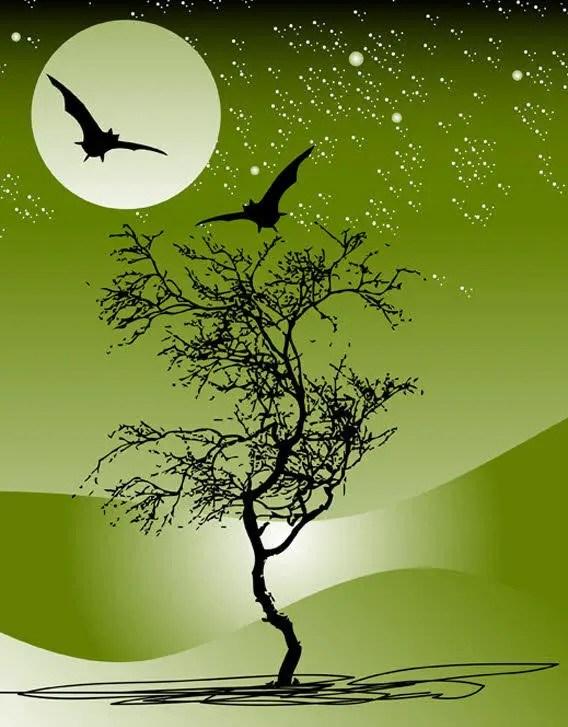 Nature Night Scene Free Vector