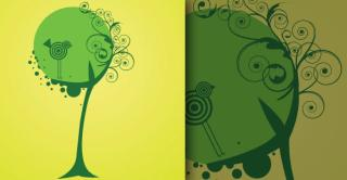 Free Vector Tree and Bird