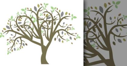 Free Vector Colorful Tree
