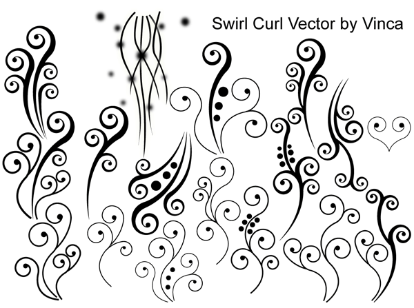 Swirl Curly Vector