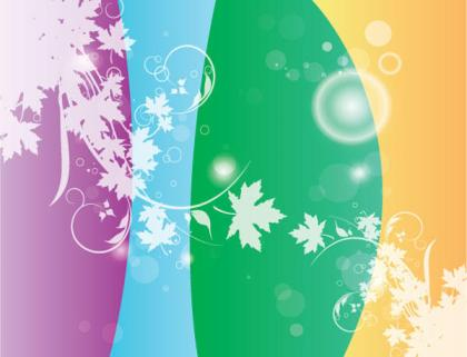 Swirly Flower Colors Vector