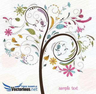 Colorful Tree Vector Illustration