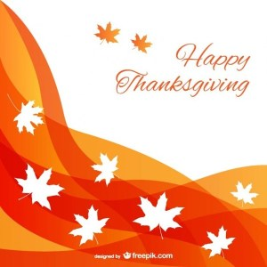Abstract Thanksgiving Background Free Vector
