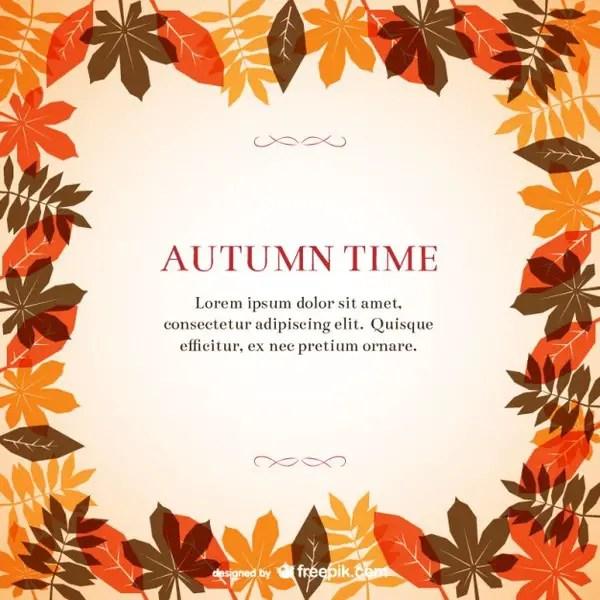 Autumn Frame Template Free Vector