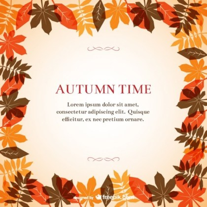 Autumn Frame Template Free Vector