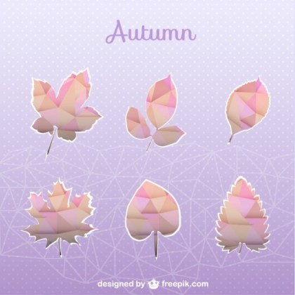Autumn Geometric Set of Leaves Free Vector