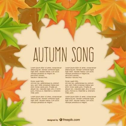 Autumn Song Template Free Vector