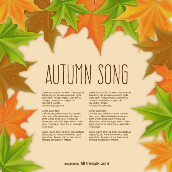 Autumn Song Template Free Vector
