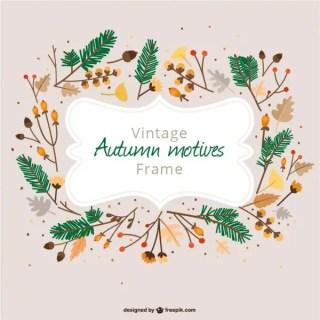 Autumn Vintage Frame Free Vector