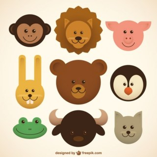 Baby Animals Icons Free Vector