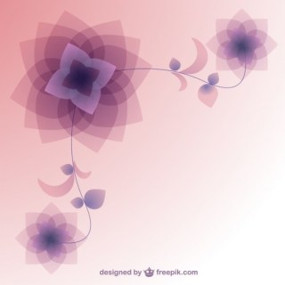 Background with Abstract Flowers Free Vector