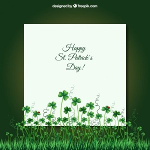 Card for St Patricks Day Free Vector
