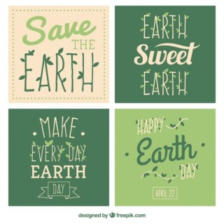 Cards for Earth Day Free Vector