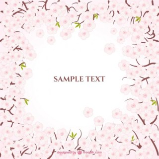 Cherry Blossoms Frame Free Vector
