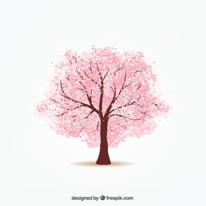 Cherry Tree Free Vector