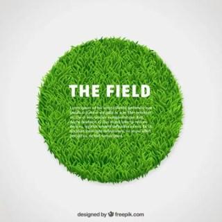 Circle of Green Grass Free Vector
