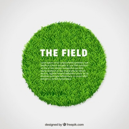Circle of Green Grass Free Vector