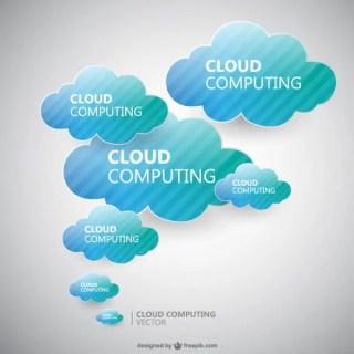 Cloud Computing Design Free Vector