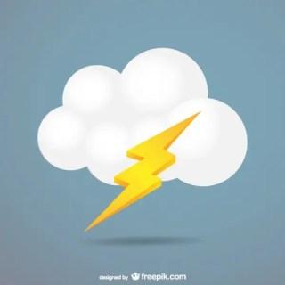 Cloud Lightning Free Vector