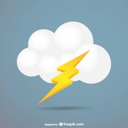 Cloud Lightning Free Vector