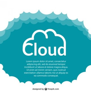 Cloud Template Free Vector
