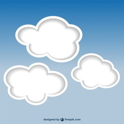 Clouds Background Free Vector
