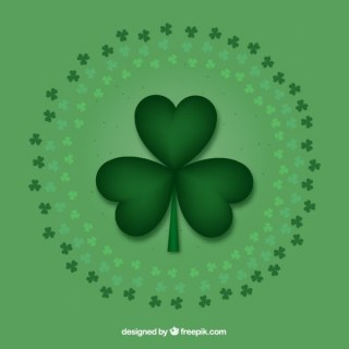 Clover Background for Saint Patrick Free Vector