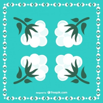 Cotton Flowers Illustration Free Vector