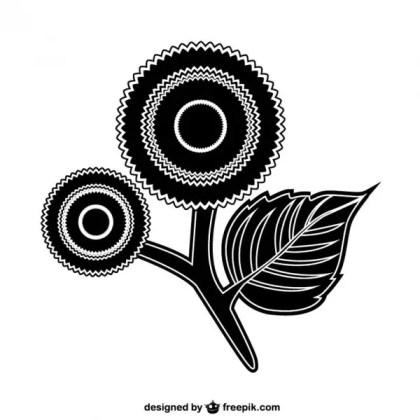 Decorative Flower Icon Free Vector